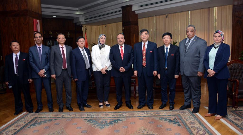 اتفاقيه تعاون بين جامعة جيانسو الصينية و جامعة طنطا  (1)