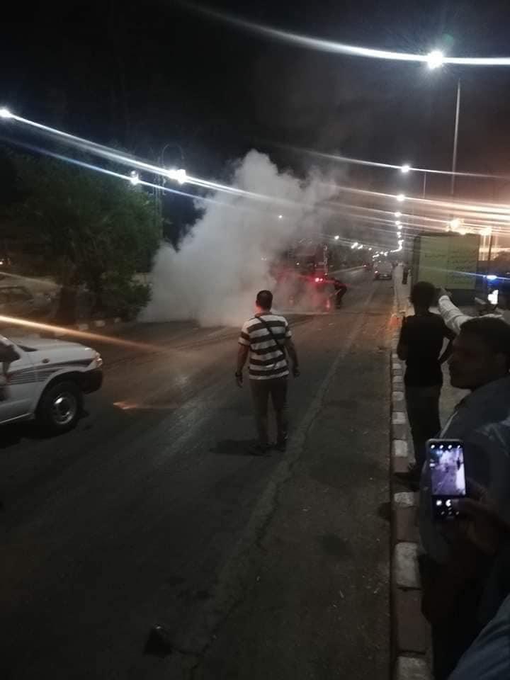 تفحم دراجة بخارية وإصابة شخص بالطريق الدائري في أسيوط  (3)