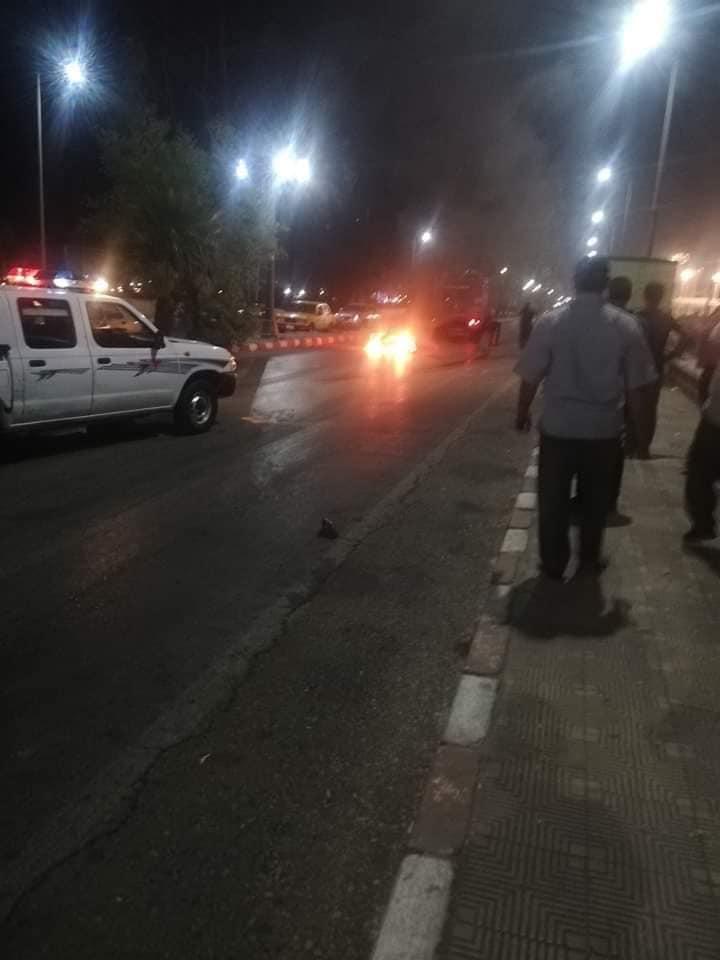 تفحم دراجة بخارية وإصابة شخص بالطريق الدائري في أسيوط  (5)