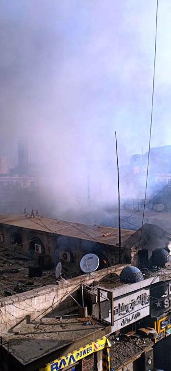حريق بسوق الخضار بالموسكى (2)