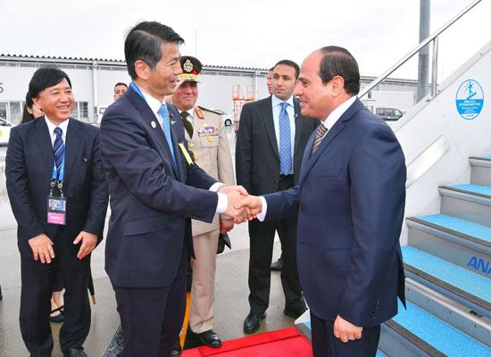 وصول الرئيس السيسى إلى اليابان
