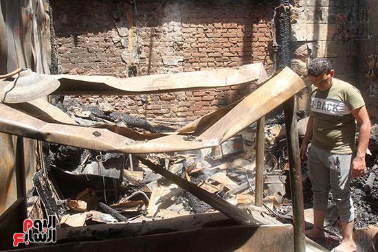 حريق العتبه (2)