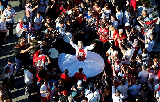 المولوية فى احتفالات رئيس بلدية اسطنبول