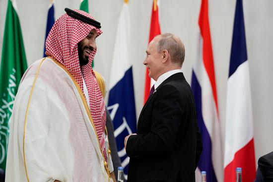 الرئيس الروسى وولى العهد السعودى فى مقر قمة العشرين