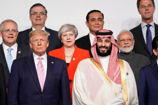 محمد بن سلمان ودونالد ترامب فى قمة العشرين