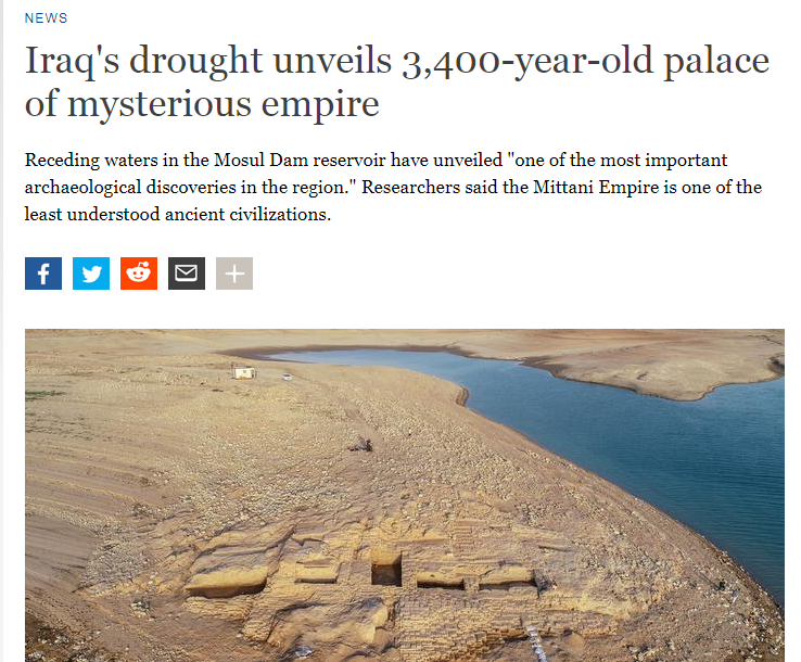الموقع الالمانى يبرز الاكتشاف العراقى