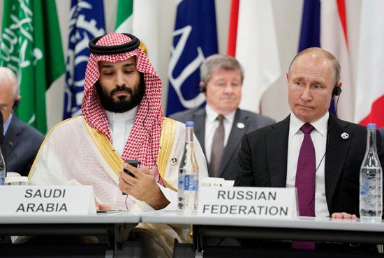 فلاديمير بوتين والأمير محمد بن سلمان فى قمة العشرين