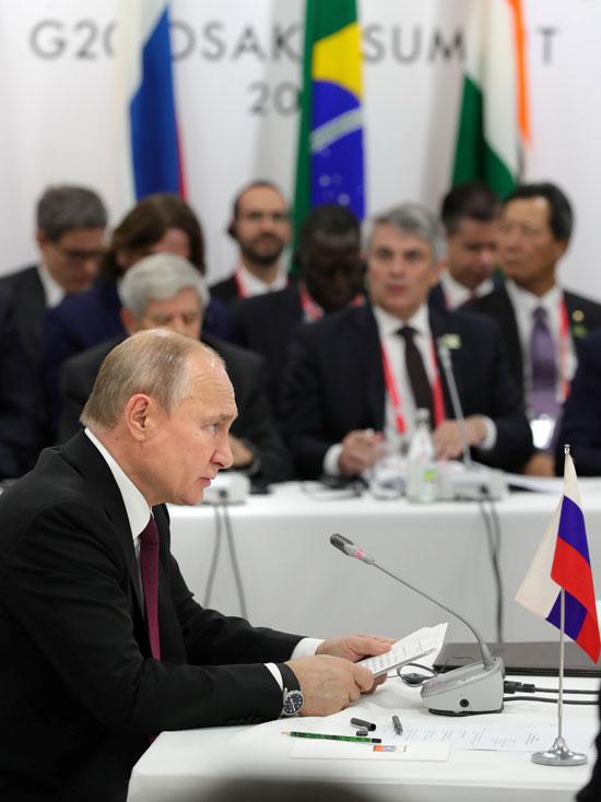 كلمة الرئيس الروسى فلاديمير بوتين فى قمة العشرين