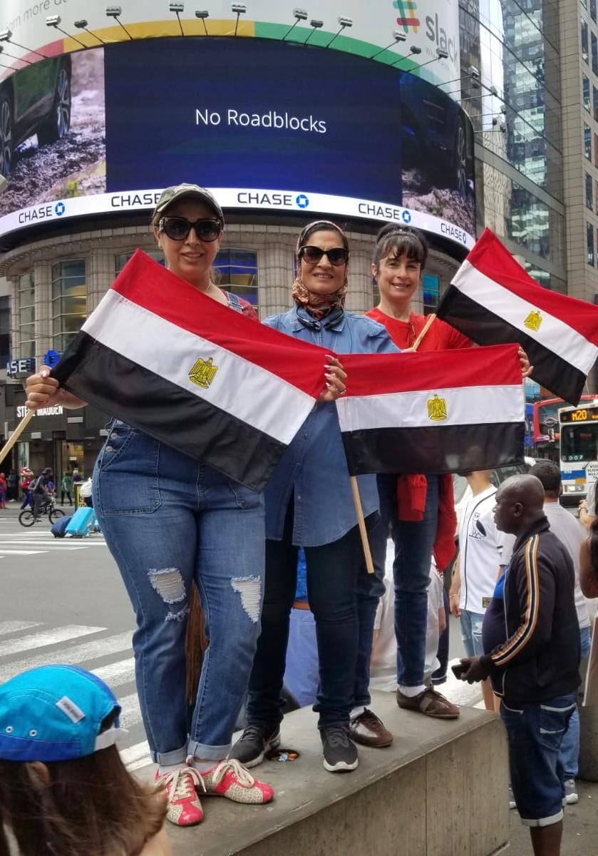 المصريون فى تايم سكوير