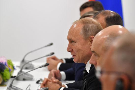 الرئيس الروسى خلال لقائه ولى العهد السعودى