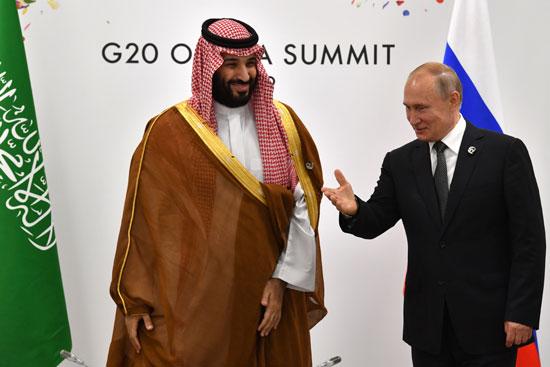 بوتين يرحب بولى العهد السعودى