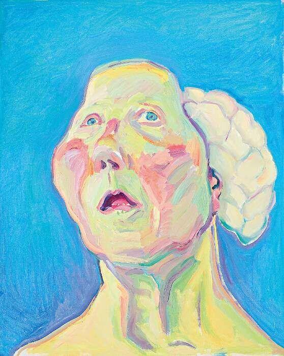 ماريا لاسنيج ، السيدة ميت هيرن (امرأة مع الدماغ) (1990) ماريا لاسنيج شتيفتونج. متحف Stedelijk المجاملة.