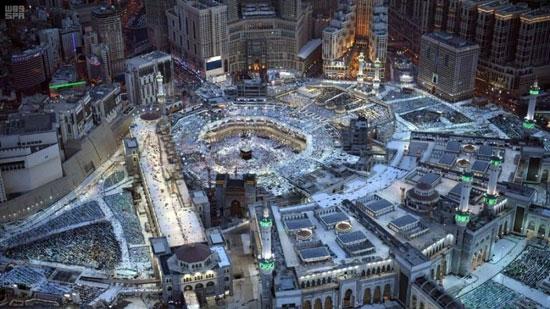 صورة جوية للمسجد الحرام ليلة ختام القرآن