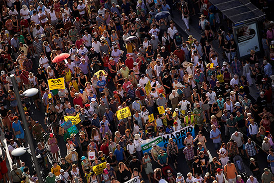 مظاهرات فى مدريد