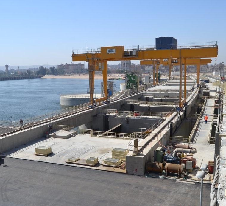 2- محطة كهرباء أسيوط المائية
