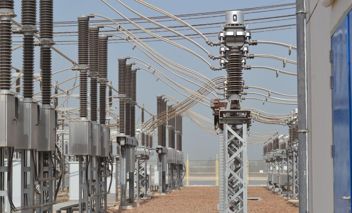 26- ابراج الضغط العالي بمحطة كهرباء أسيوط المائية