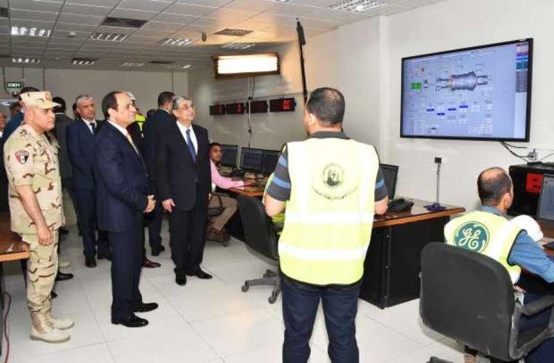 الرئيس عبدالفتاح السيسي يفتتح محطة كهرباء غرب اسيوط  (2)