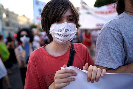 تظاهرات فى مدريد (2)