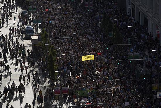 تظاهرات فى مدريد