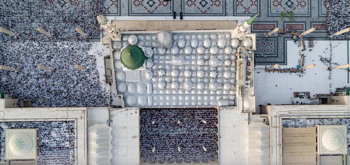 صلاة العيد فى المسجد النبوى