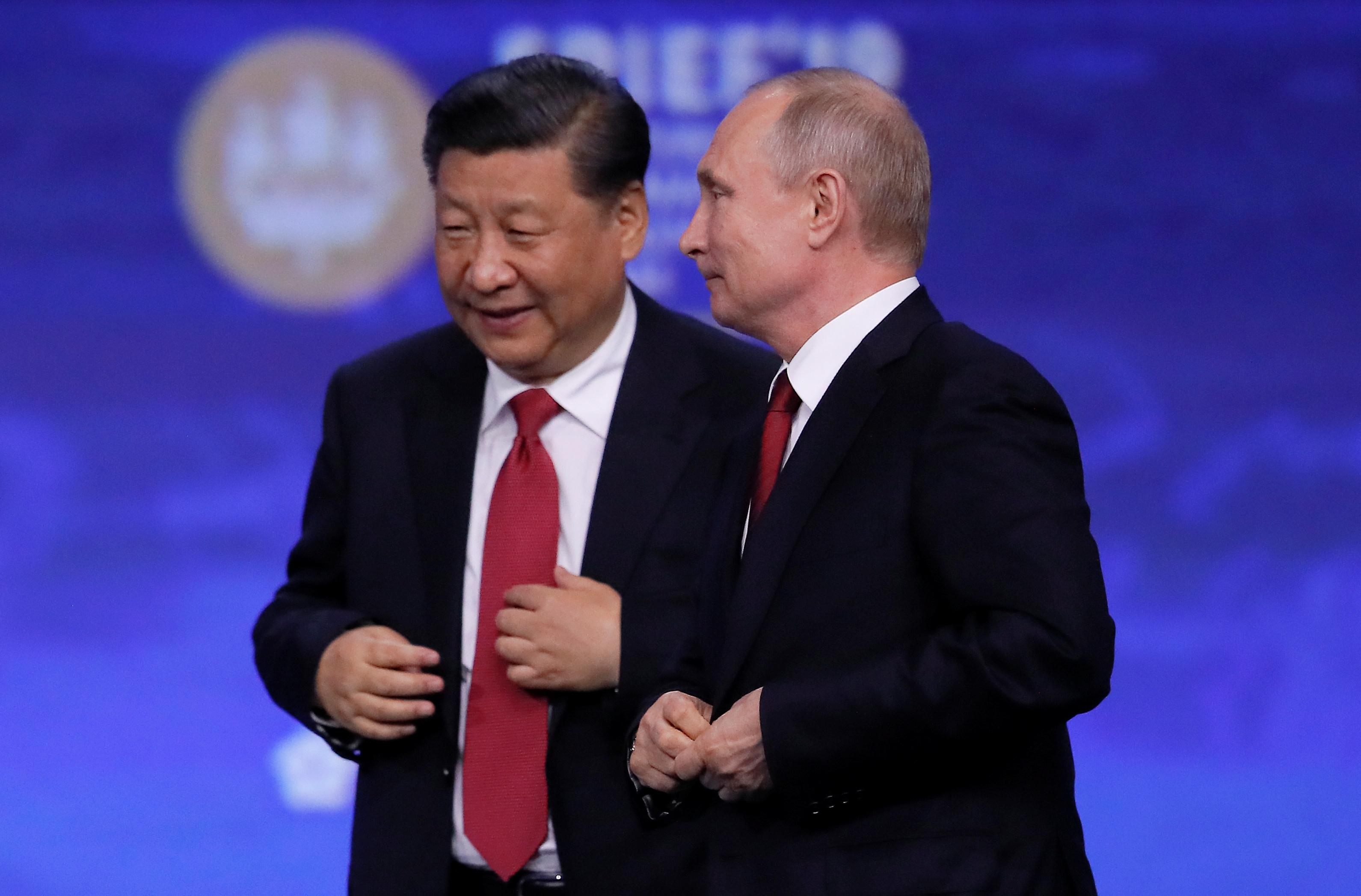 بوتين ونظيره الصينى