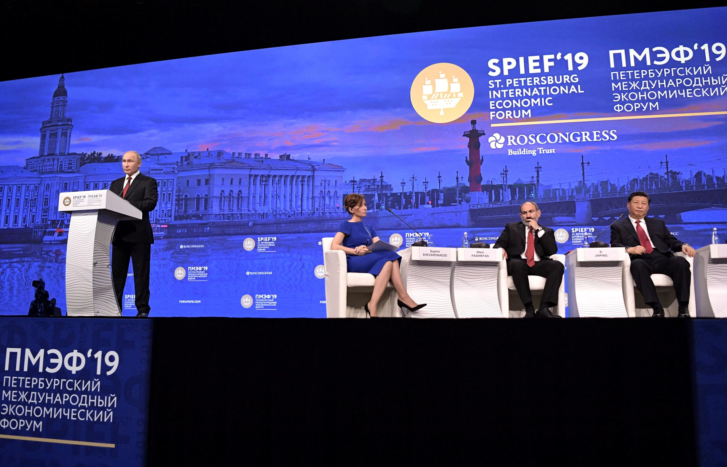 كلمة بوتين خلال المنتدى