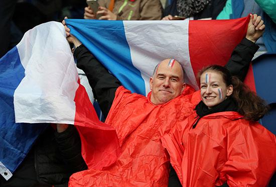 فرجة جماهير فرنسا