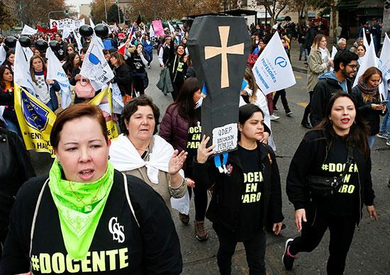 مسيرة احتجاجية بتشيلى