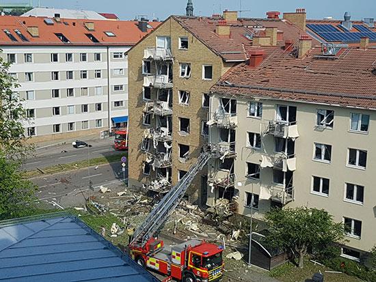 الحماية المدنية بموقع الانفجار