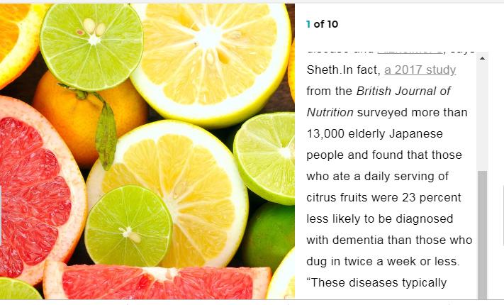 الفواكه الحمضية وفوائدها