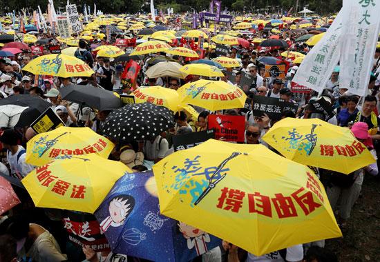 مظاهرات فى شوارع هونج كونج