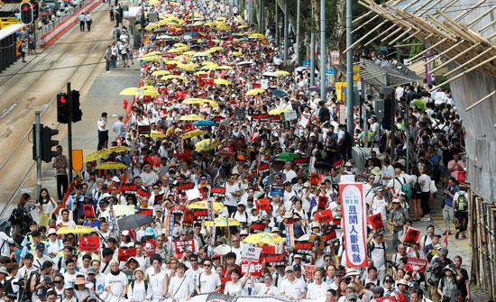 مسيرات فى هونج كونج لرفض قانون جديد مع الصين