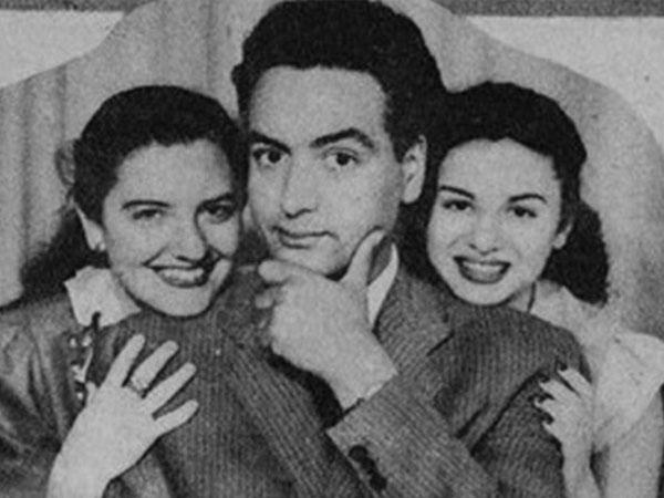 نيللي مظلوم مع محمجد فوزي الذي شاركته فيلم فاطمة وماريكا وراشيل