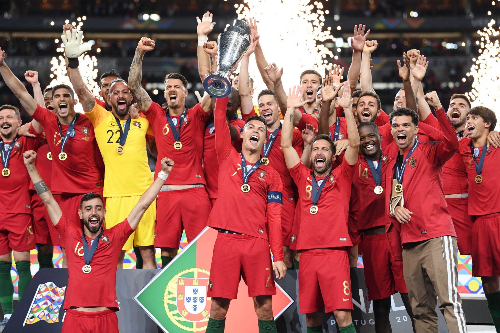 تتويج البرتغال بلقب دورى الامم الاوروبية (7)