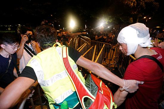 جانب من الاشتباكات  فى هونج كونج