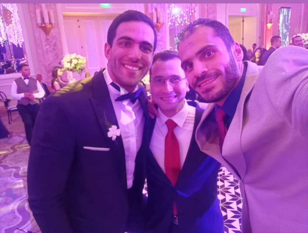 كريم هنداوى فى حفل الزفاف