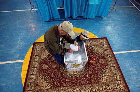 فرز الأصوات بكازاخستان