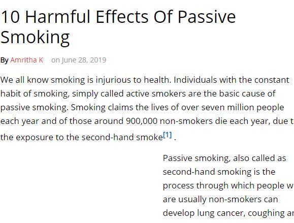 التدخين السلبى واضراره