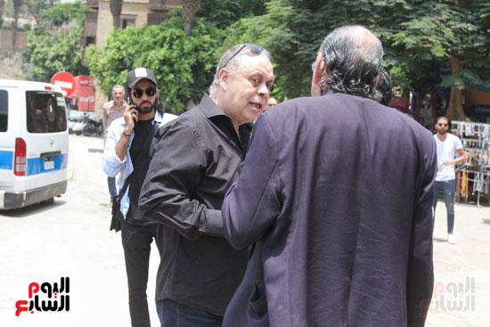 أشرف-زكى-فى-جنازة-أبو-عوف