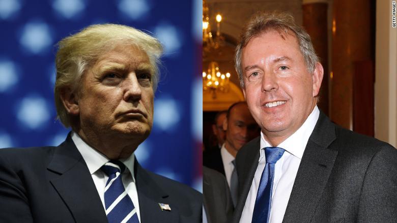 الرئيس الأمريكى والسفير البريطانى المستقيل