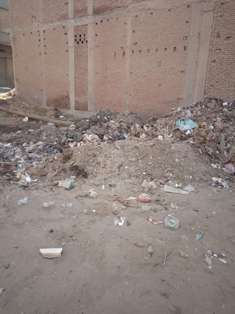 تراكم القمامة بجوار المعهد الدينى بالمحلة (1)