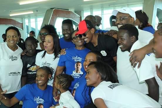 استقبال منتخب ناميبيا