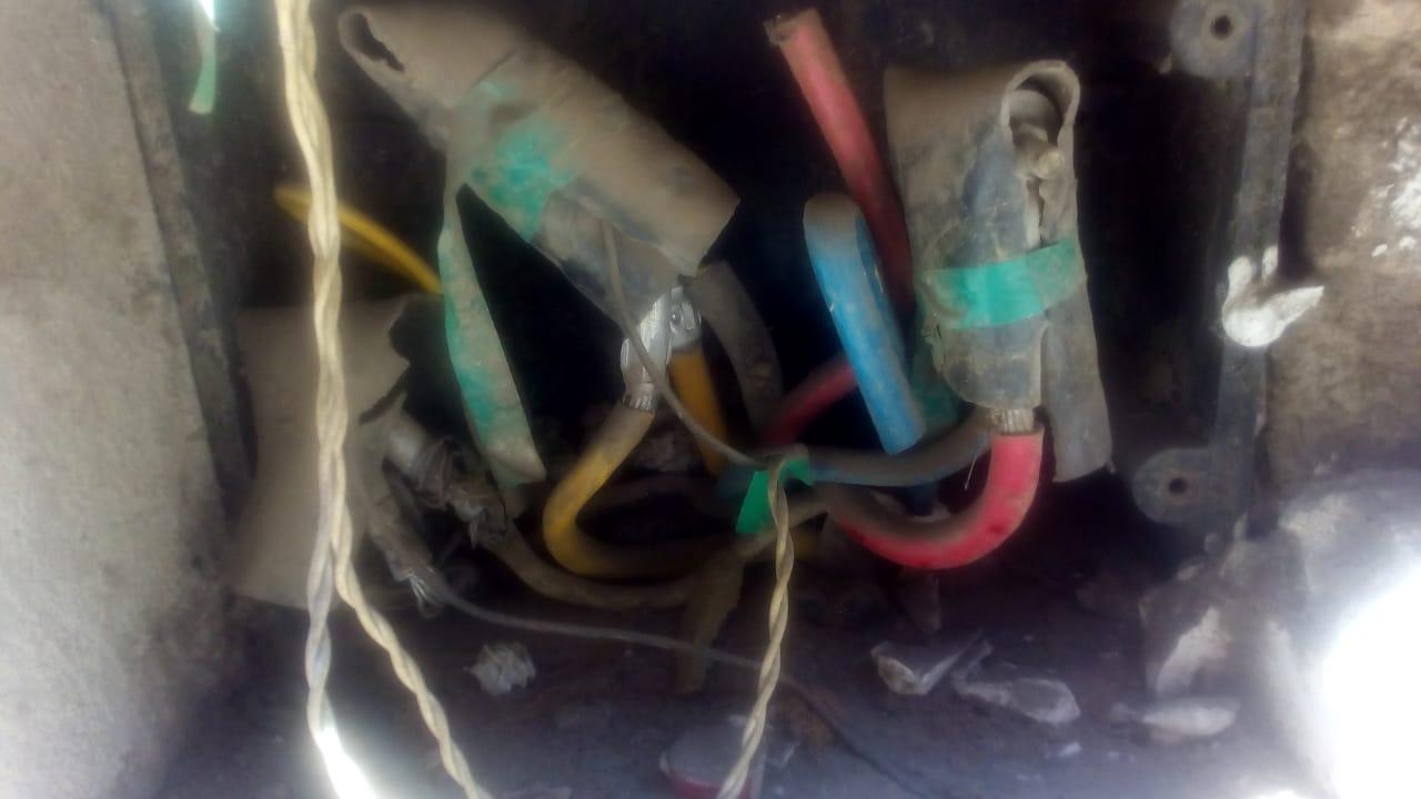 كهرباء مكشوفة