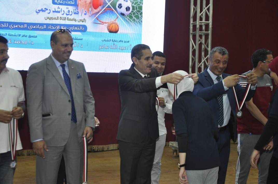 7- حفل ختام الدورة الرياضية الأولى لجامعات القناة