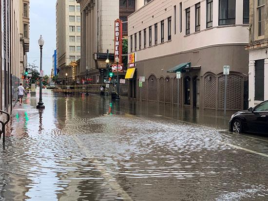 منطقة غمرتها المياه في نيو أورليانز