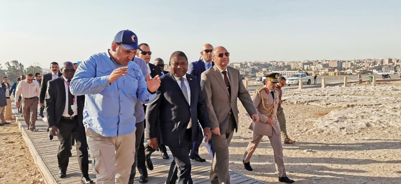 رئيس جمهورية موزمبيق فى الأهرامات (2)