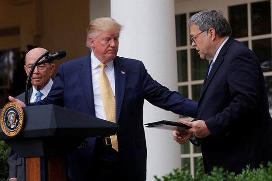 ترامب يقدم النائب العام لإلقاء كلمته