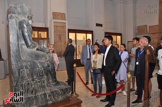 رئيس مدغشقر فى المتحف المصرى بالتحرير (2)