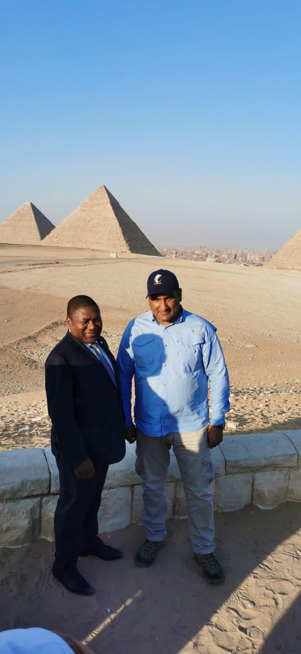 رئيس جمهورية موزمبيق فى الأهرامات (3)