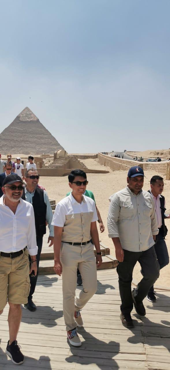 رئيس مدغشقر فى المتحف المصرى بالتحرير (5)